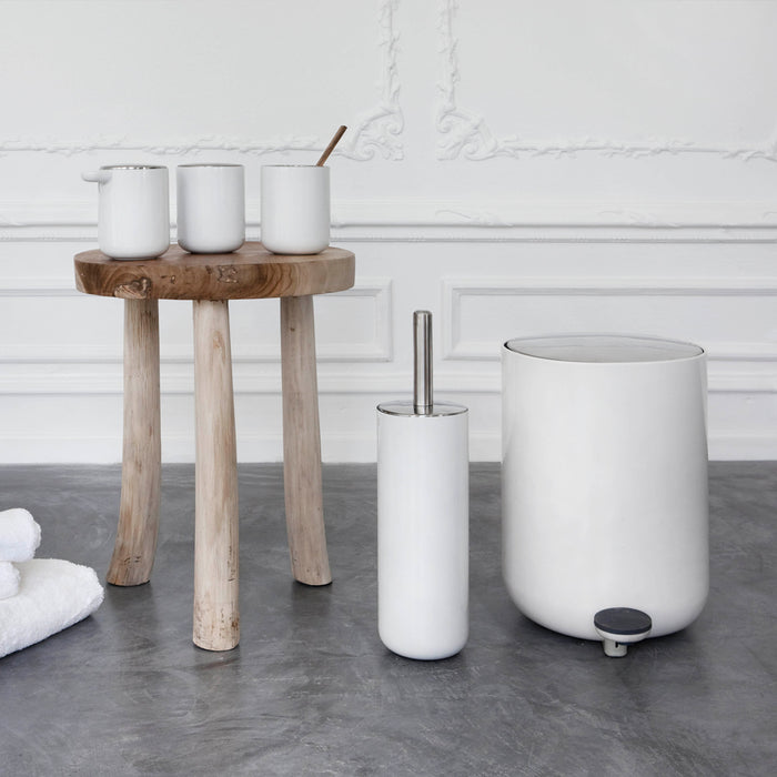 Designed for Menu, in Scandinavia, by Norm Architects, these bath items are available, in white, as a collection.