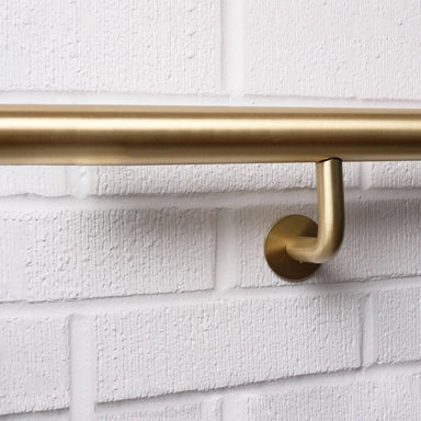 Orla Handrail Bracket in satin brass made by CASSON Hardware