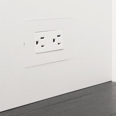 Designmod Smoothline Flush Mount Wall Plate Outlet for Wood