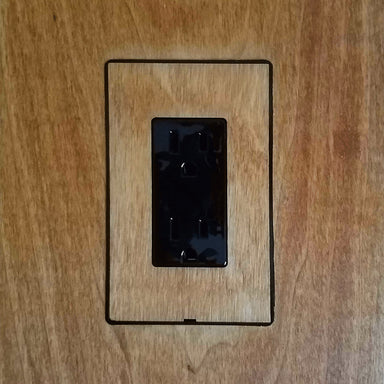 Smoothline Flush Mount Wall Plate: Wood Mount