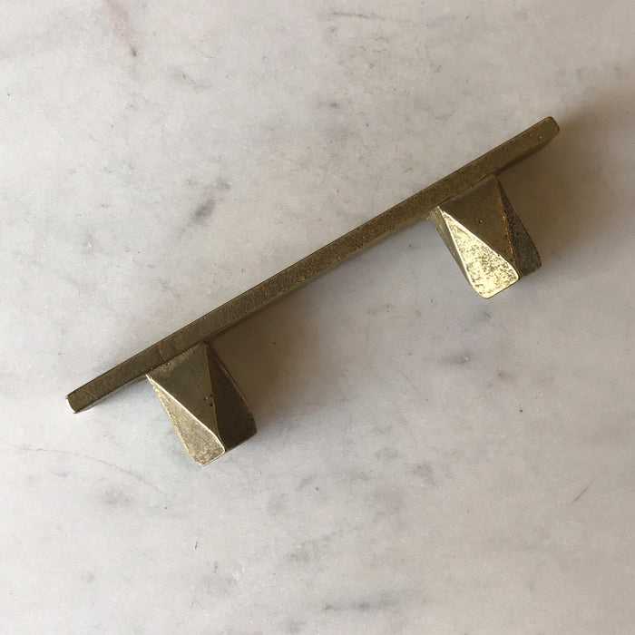 Cast Bronze Handles in the Geo series by contemporary hardware designer Shayne Fox. Made in Toronto.