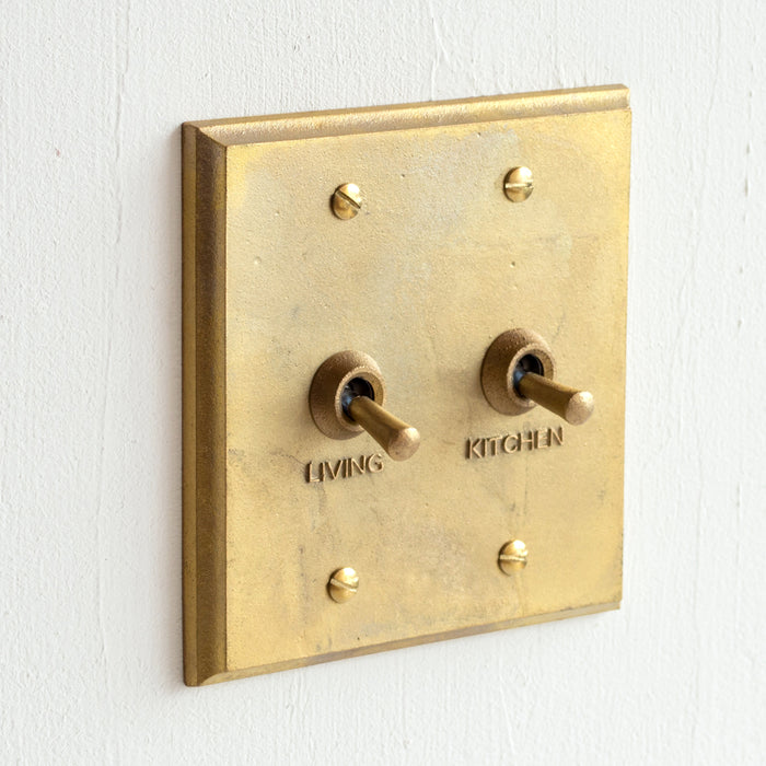 Brass Switch Plate - Multi Rect