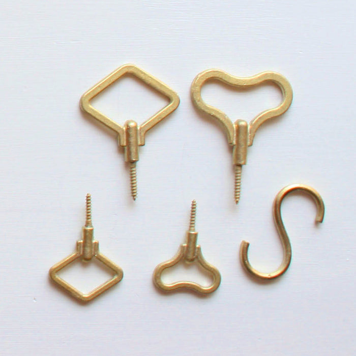 Designer Brass Screw in Hooks made in Japan.