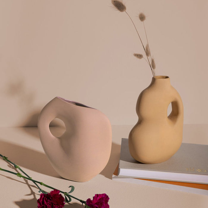 Aura collection ceramic vases from Schneid Studio