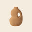 Mustard ceramic vase from Schneid Studio