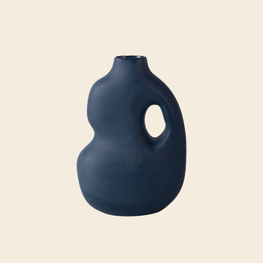 Midnight Blue ceramic vase from Schneid Studio
