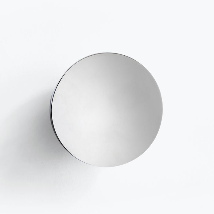 polished stainless steel wall mirror