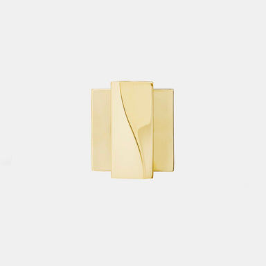 Elegant brass thumb turn with square rose. Beautifully and functionally designed.