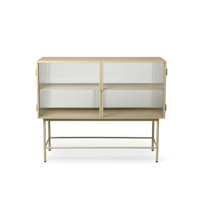 reeded glass sideboard