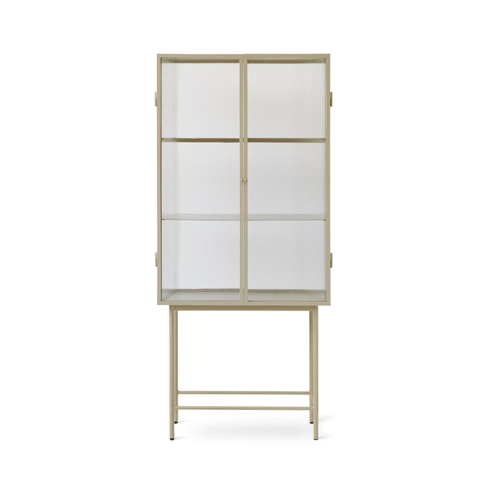 reeded glass vitrine