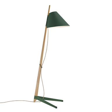 wood and metal floor lamp