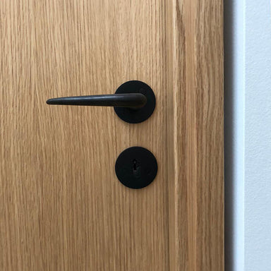 Matte black lever handle Kay Otto Fisker