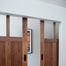 bi-part barn door hardware system
