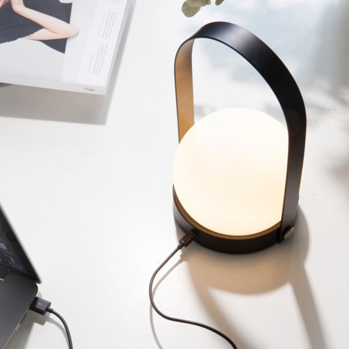 Portable LED Lamp by Menu in Black