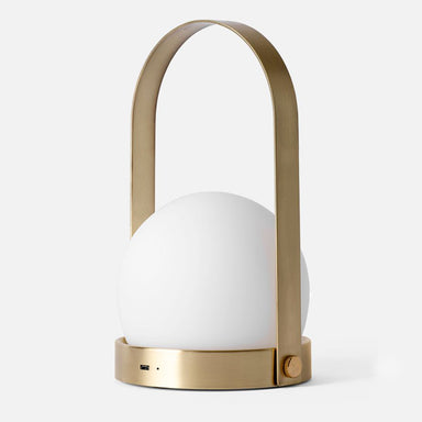 Portable LED Lamp by Menu in Brass