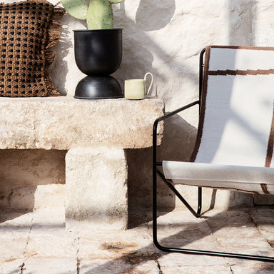 Black Shapes Desert Lounge Chair