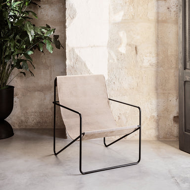 Black Solid Desert Lounge Chair