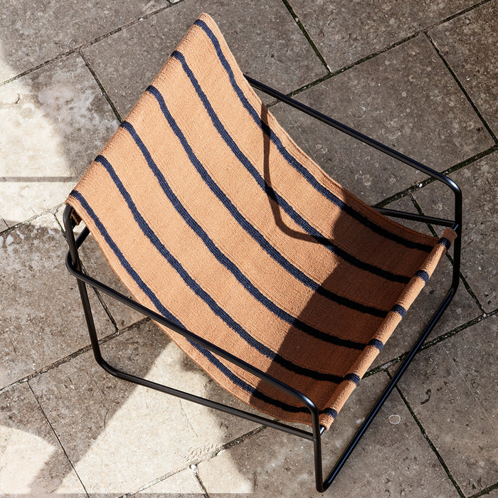 Black Stripe Desert Lounge Chair