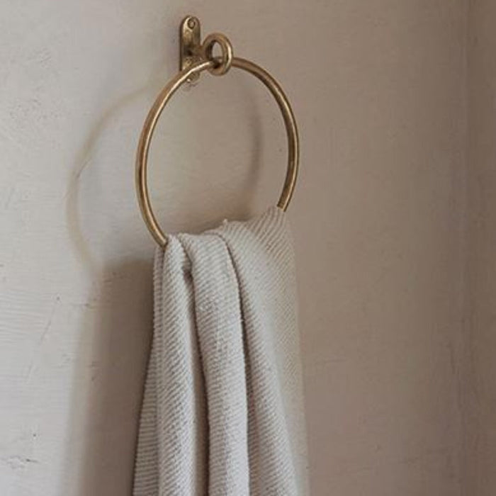 Cast Brass Towel Ring