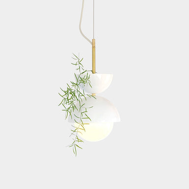 Unique Hemisphere Pendant Light and Planter