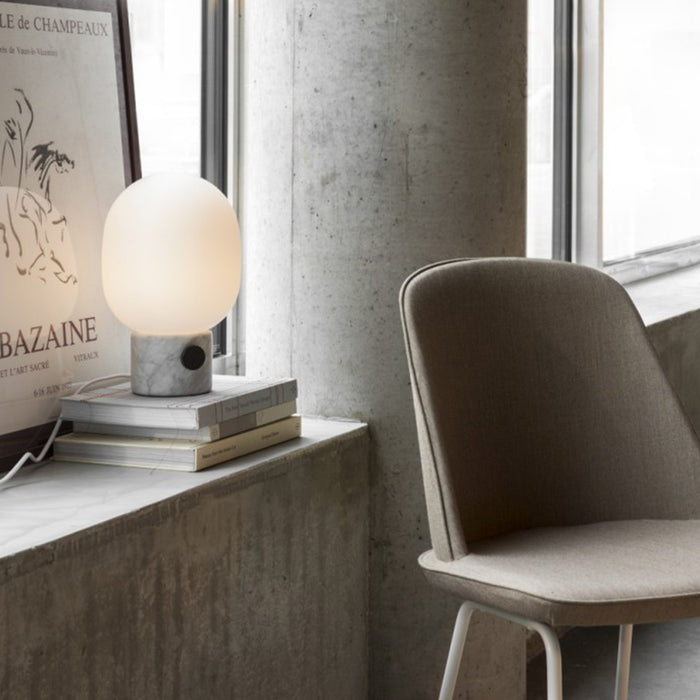 White Marble Table Lamp by Menu