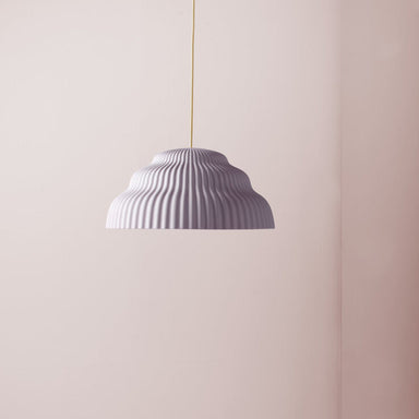 Ceramic hand cast pendant light.