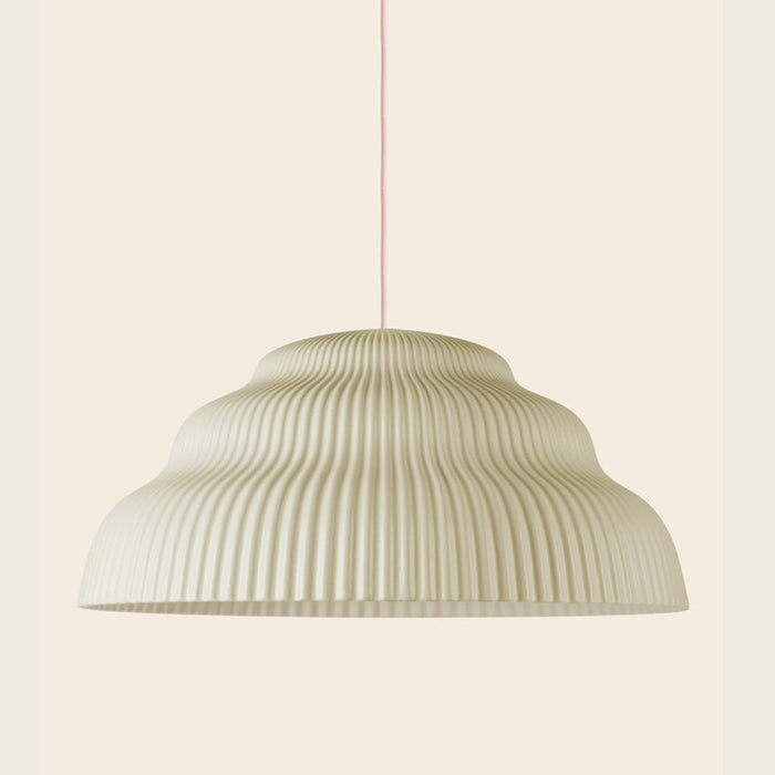 Ceramic pendant light, hand cast in Germany.