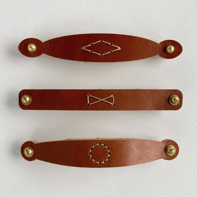 Leather pull handles from Lostine