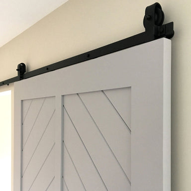 black top mount barn door hardware