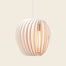 Round wooden pendant light
