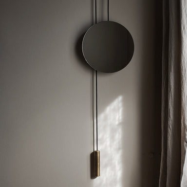 sculptural oak mirror