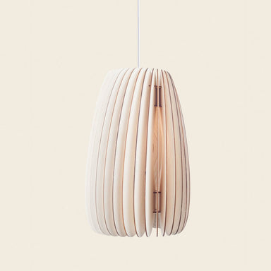 Elongated wooden pendant