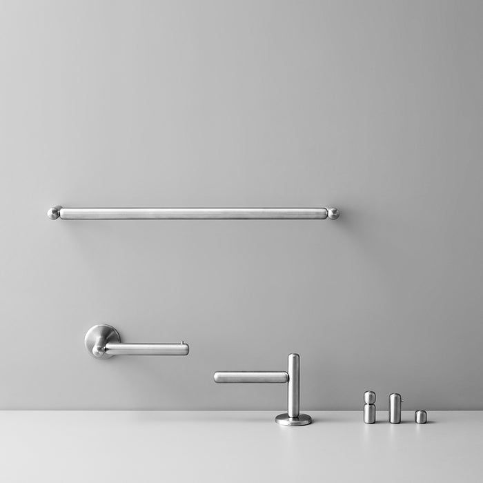 Minimal Pebble Bath Collection in Satin Stainless Steel