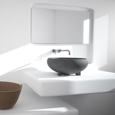 Concrete washbasin made in Greece