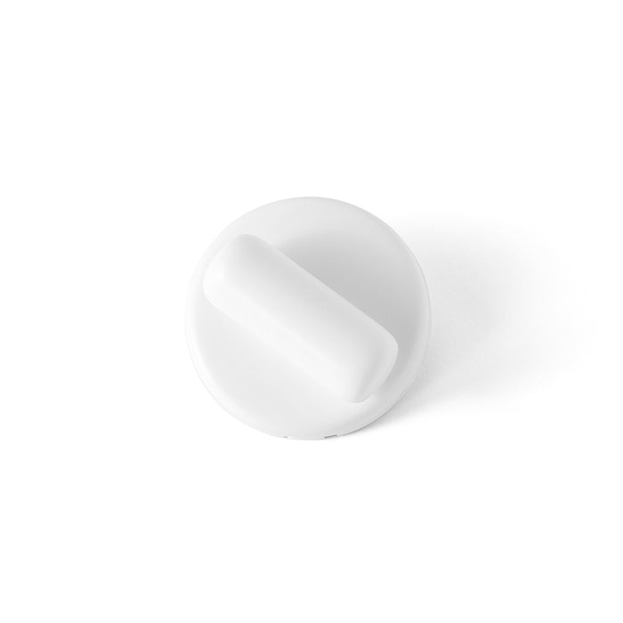 Pebble Collection Thumb Turn in White designed by Bjarke Ingels