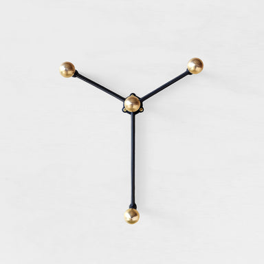 Modular brass wall hook