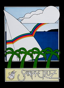 "Sticker ""Sail Santa Cruz"""
