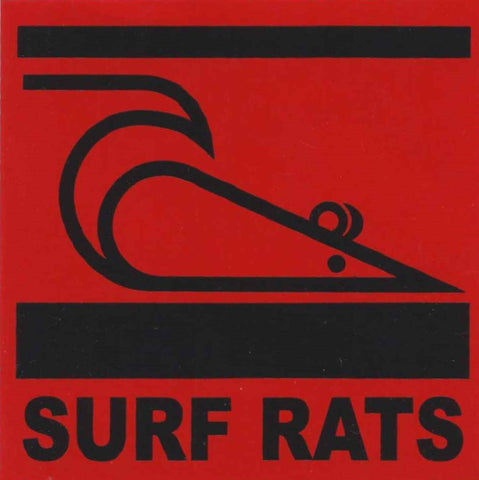 Surf Rats logo sticker