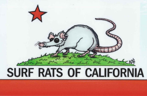 "Sticker ""Surf Rats of California"""