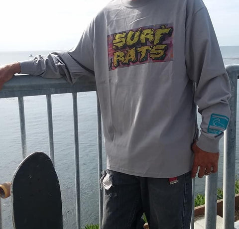 Long-sleeve Surf Rats Mural tee
