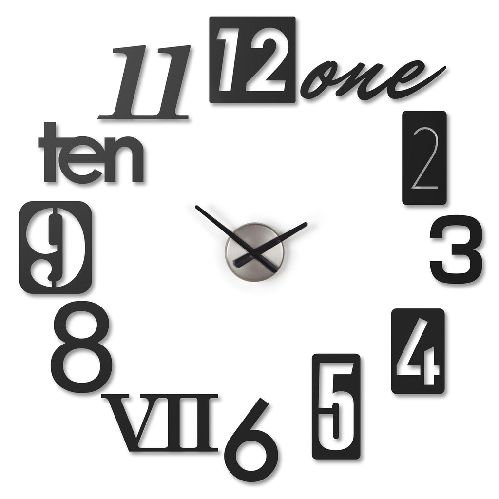 Numbra Wall Clock Black