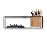 Cubist Wall Shelf Black