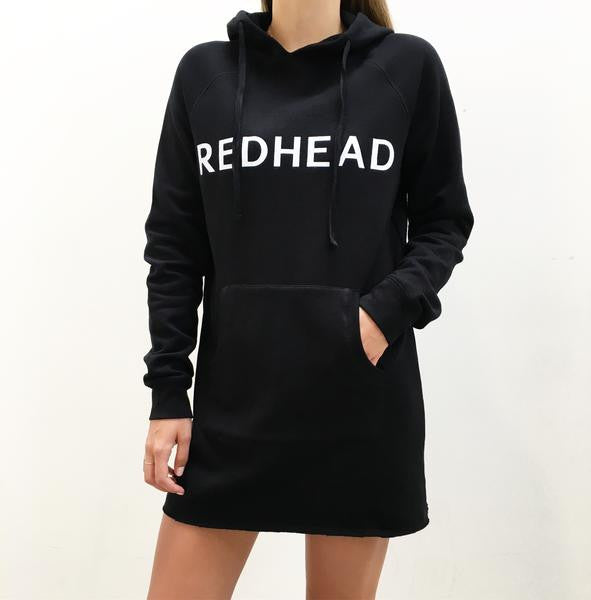 RedHead Hoodie Dress Black