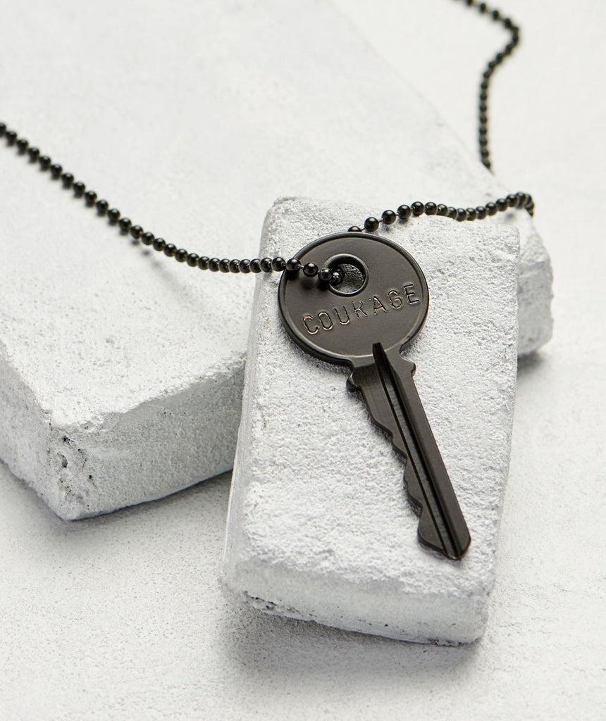 Classic Matte Black Courage Necklace