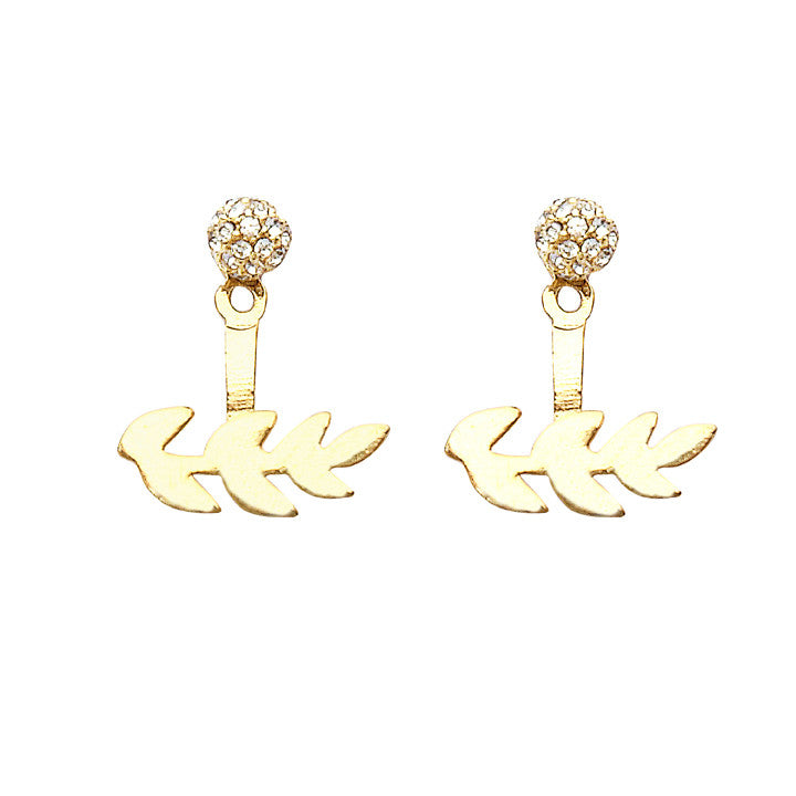 Gardenia Earrings Gold