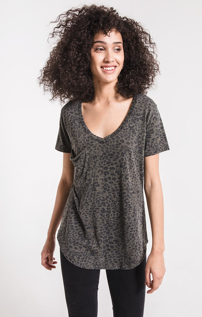 The Leopard Pocket Tee