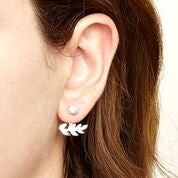 Gardenia Earrings Silver