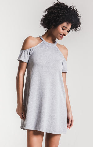 36f0dc72ef5295 Z Supply. The Cold Should Dress.  68.00. The Cold Shoulder Tee Heather Grey