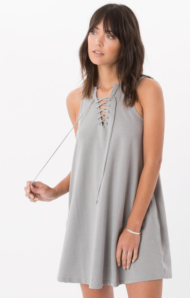 The All Tied Up Dress Grey Stone