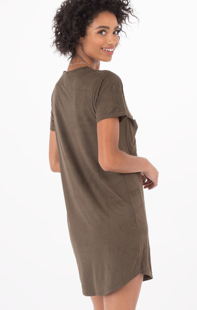The Faux Suede Dress Rosin